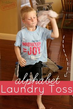 Toddler Approved!: Alphabet Laundry Toss Game. They think they're playing but they're actually helping you with laundry!! ^_^
