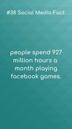 Social media facts Mobile gaming anyone? 😁 927 million hours a month playing video games.