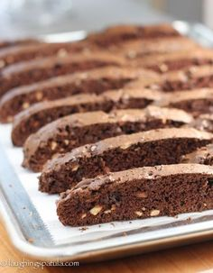 Double Chocolate Almond Biscotti - So simple to make and pretty darn impressive!