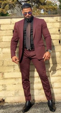 Black Boys, Black Men, Costume Sexy, Designer Suits For Men, Stylish Mens Outfits, Well Dressed Men, Suit And Tie, Business Outfits, Muscle Men