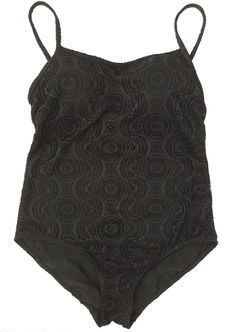 Catalina Womens Medium One Piece Swimsuit Black Cut Out Excellent | eBay