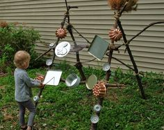Banging Wall :: Toddler and Preschool Music and Rhythm :: Waldorf Home :: Open Ended Outdoor Play :: Outdoor Reggio Playscape :: From A Life Sustained