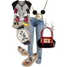A fashion look from June 2012 featuring Disney nightgowns, Current/Elliott jeans and Disney flats. Browse and shop related looks.