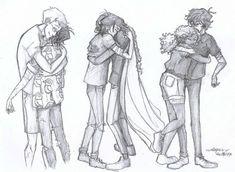 roman hugs!!!! ft. nico di angelo <3 #PJO #HOO