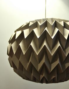 Hanging decorative folded paper bubble ball GRAY by tyART on Etsy