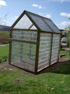 Recycled water Bottle Green House