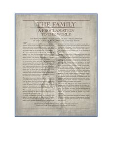 Title of Liberty, The Family a proclamation to the world