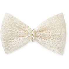 FOREVER 21 Crocheted Faux Pearl Barrette ($2.80) ❤ liked on Polyvore featuring accessories, hair accessories, bows, hair, headwear, cream, barrette hair clips, hair clip accessories, crochet hair clips and forever 21 hair accessories