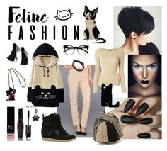"""""""one of: Behave as a cat"""" by kena-gaer on Polyvore featuring мода, Miraclebody Jeans by Miraclesuit, WithChic, Vanessa Mooney, Bling Jewelry, Isabel Marant, Dolce&Gabbana, Guanábana и Kate Spade"""