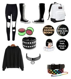 """""""Outfit idea #2"""" by theratchetdragon on Polyvore featuring Converse, JanSport and Bling Jewelry"""