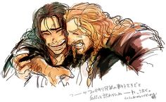Fili and Kili. This reminds me of some great times with my sisters... lol. Oh the fun we have haha. X)