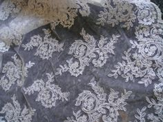 White Lace Bridal Lace Alencon Lace Corded White by Threads2Trends
