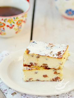 La Torta golosa di ricotta e uvetta: un dolce delicato e light, dal gusto…