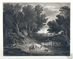 Thomas Gainsborough  A Watering Place  Etching Drypoint