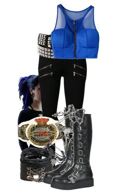"""""""Outfit"""" by roseangel145 ❤ liked on Polyvore featuring Cyberdog, Paige Denim, TNA, Dorothy Perkins and Pamela Love"""