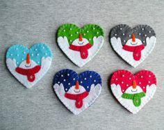 Christmas snowman tree ornaments felt snowman home by feltgofen