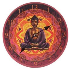 Picture Clock - Lisa Parker Thai Buddha - Website:  http://www.curiocadeau.nl/