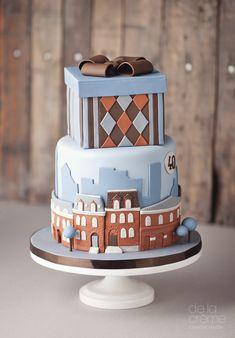 Bow Cakes, Fondant Cakes, 1st Birthday Cake For Girls, Birthday Cakes, Birthday Ideas, Beautiful Cakes, Amazing Cakes, Cake Designs For Kids, City Cake
