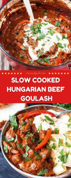 Slow Cooked Hungarian Beef Goulash Recipe - teYou can find Hungarian recipes and more on our website. Slow Cooking, Cooking Recipes, Slow Cook Beef Recipes, Beef Chunks Recipes, Slow Cooker Recipes Family, Cooking Beets, Cooking Fish, Cooking Turkey, Bread Recipes