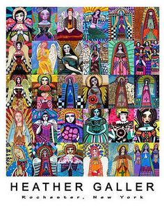 Imprimir Ángeles Virgen Guadalupe Cartel de Arte Popular Mexicano | eBay
