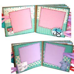 Enfermera álbum de fotos papel bolsa álbum por apicketfencelife