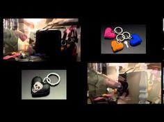 Ne cherchez plus vos clefs ! Porte-clés cuir et strass Swarovski Elements pour femme. Fabrication artisanale Française.  En vente sur http://www.anneg.fr/accessoires