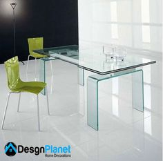 Glass table top design