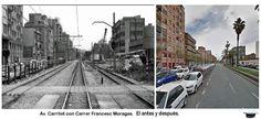 Av del carrilet con Francesc Moragas. El antes y después.