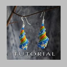 Cellini Spiral Earrings tutorial