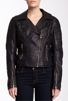 Levi's Roping Faux Leather Motorcross Jacket