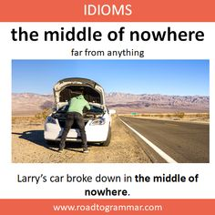 Idioms: The Middle of Nowhere English Idioms, English Phrases, Learn English Words, English Lessons, Advanced English Vocabulary, English Vocabulary Words, English Conversation Learning, Interesting English Words, Idioms And Phrases