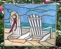 stained glass beach scenes   Sandyhook Art Glass Studio - Home