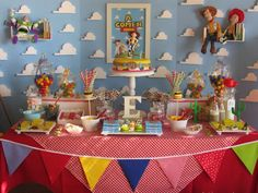 Incredible Toy Story birthday party dessert table!  See more party planning ideas at CatchMyParty.com!