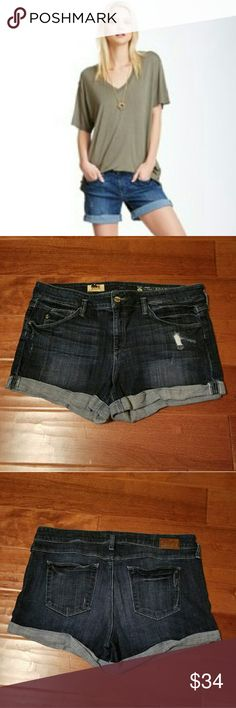 Sold Design Lab Denim Shorts Sold Design Lab Perry Street Short.  Very Comfy with Plenty of Stretch.  Slight Distressing and the Roll is Tacked in Place.  Great Shorts! Sold Design Lab Shorts Jean Shorts