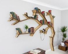 Image result for tree painting with book case