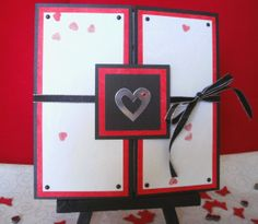 Silver Heart Gatefold Greeting Card by AluminumButterfly on Etsy, $5.99