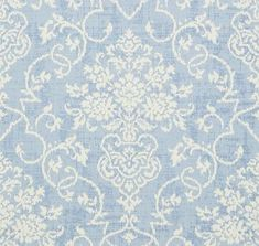 Alicia Damask Blue wallpaper by Thibaut