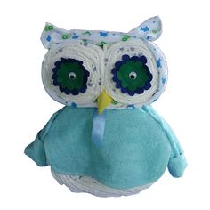 "Adorable owl made up of items for baby. Instructions NOT in English...would be a ""figure-it-out"" kind of project. lol <3"