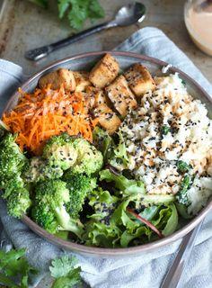 Coconut Cauliflower Rice Buddha Bowl