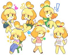 See more 'Isabelle' images on Know Your Meme! Animal Crossing Fan Art, Animal Crossing Memes, Animal Crossing Characters, Animal Crossing Villagers, Anime Animals, Cute Animals, Character Art, Character Design, Pokemon