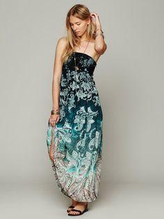 8b2117f737 Love this  Sekayi Print Tube Dress  Lyst Blue Flower Dress