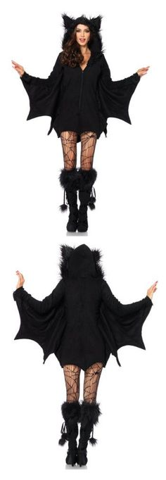 Cozy Bat Costume.  Perfect for a Halloween Bat & Boo Ball Party.