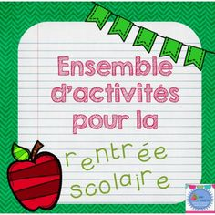 Viewing 1 - 20 of 49728 results for ensemble dactivits de la rentre french back to school bundle School Pack, School Teacher, Beginning Of The School Year, First Day Of School, French Education, French Resources, Meet The Teacher, French Immersion, Back To School Activities