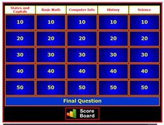FREE Instant Jeopardy Review Game~  Create your own review game for a wide variety of classroom uses. This tool is a fun and interactive way to review content in your classroom or other group settings!
