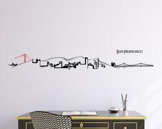 San Francisco Skyline Vinyl wall decal by Zapoart on Etsy https://www.etsy.com/listing/128360111/san-francisco-skyline-vinyl-wall-decal