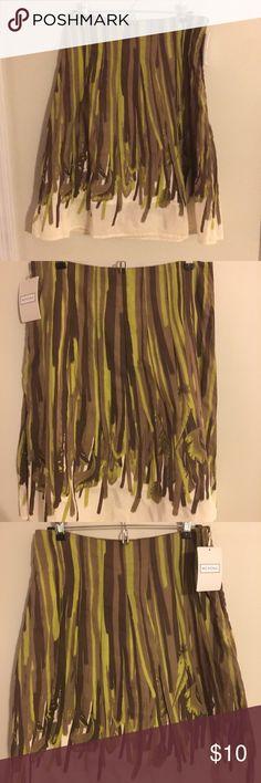 Merona cotton summer skirt. NWT - Cotton summer skirt. Fully lined. A-line. Merona Skirts