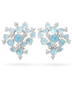 Blue Bubble Cluster Earrings, Paul Morelli