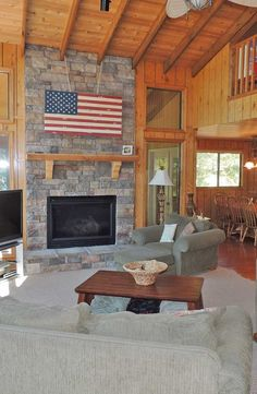 Enjoy the floor to ceiling stone fireplace which flanks the massive wall of windows. There is plenty of cedar tongue and groove for the cabin feel inside. 2388 Kitzbuhl Point Dr. http://www.innsbrook-properties.com/property/mo/innsbrook/63390/innsbrook/2388-kitzbuhl-point-drive/541050b3960df943940001e1/