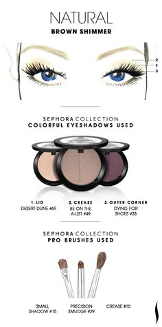NATURAL: Brown Shimmer HOW TO. #sephora #sephoracollection #mua #eyeshadow #SephoraSweeps