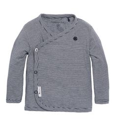 05ac2fb70bd77 Camiseta para bebés niños rayas horizontales blancas y azules de Noppies  Kids. Con prácticos botones automáticos.  modabebe  modainfantil  ropabebe  ...